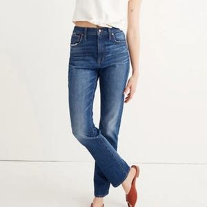 New Madewell High Rise Slim Boy Jeans Size 30